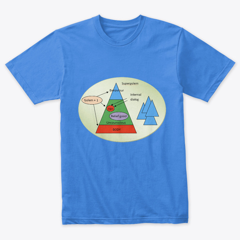 Golem Iceberg Model T Shirts Vintage Royal T-Shirt Front