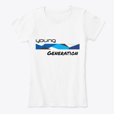 Young Generation White Women's T-Shirt Front