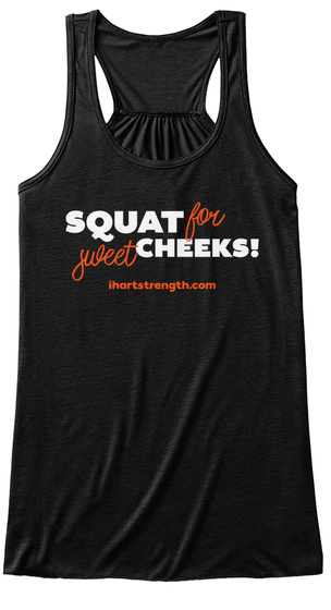 Squat For Sweet Cheeks   Orange Black Women's Tank Top Front