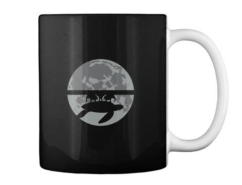 Flat Earth Eclipse 1 Mug [Usa] #Sfsf Black Mug Back