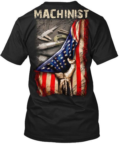 Machinist Black T-Shirt Back