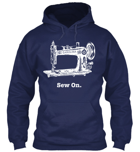 Quilting Cute Gift Navy T-Shirt Front