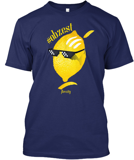 Flav City T Shirt   #Obzest Midnight Navy T-Shirt Front