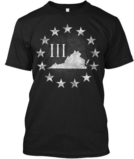 Virginia 3 Percenter Black T-Shirt Front