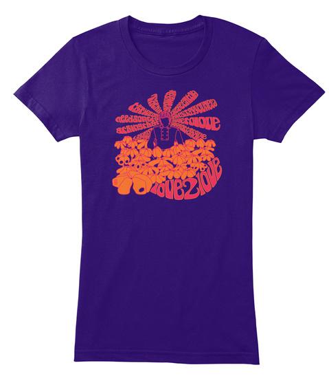 Love 2 Love Purple Women's T-Shirt Front