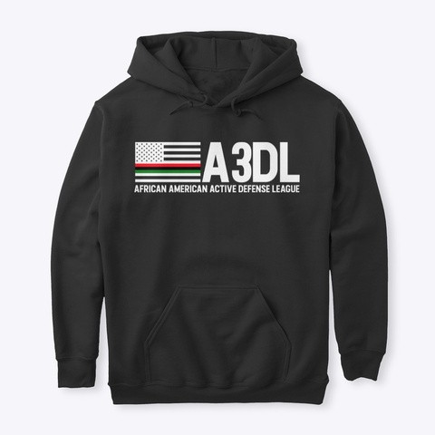 A3 Dl Black Hoodie Black T-Shirt Front