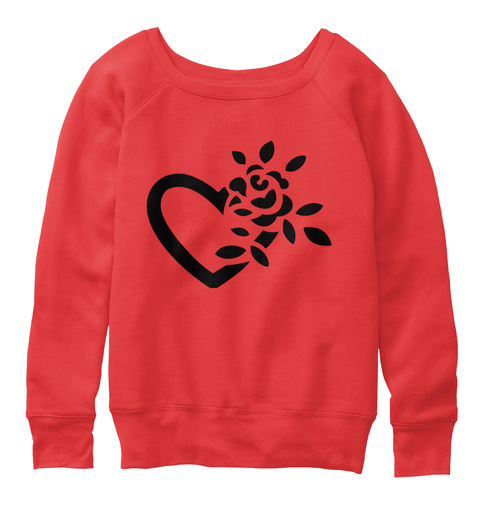Valentines Day Heart Sweater For Women Red T-Shirt Front