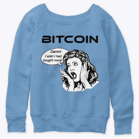 Bitcoin   Wish I Bought More Blue Triblend  T-Shirt Front