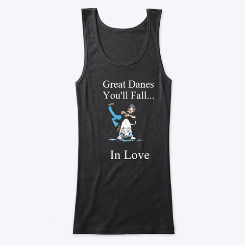 Fall In Love With Double Merles Black T-Shirt Front