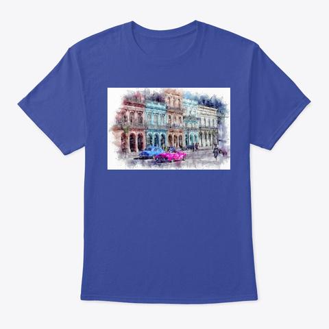 Havana  Cuba Deep Royal T-Shirt Front
