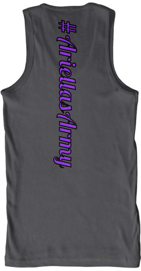 # Ariellas Army Charcoal T-Shirt Back