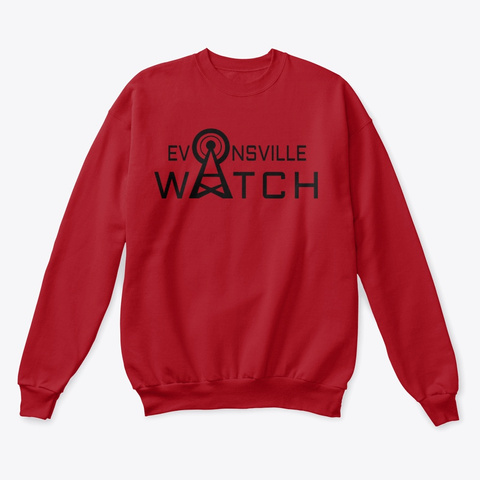 Evansville Watch Deep Red  T-Shirt Front