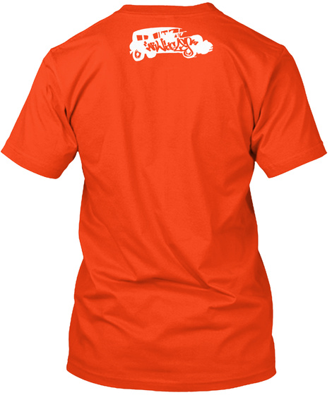G Boogie Ny City Deep Orange  T-Shirt Back
