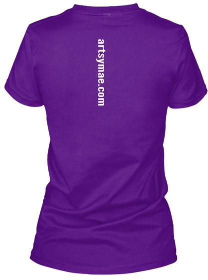 Artsymae.Com Team Purple  T-Shirt Back