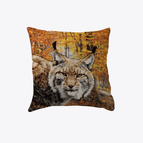 Fall Lynx Pillow Red T-Shirt Front
