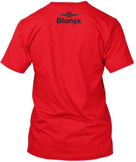B Blonyx Red T-Shirt Back