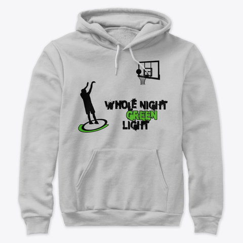 Whole Night Green Light Athletic Heather T-Shirt Front