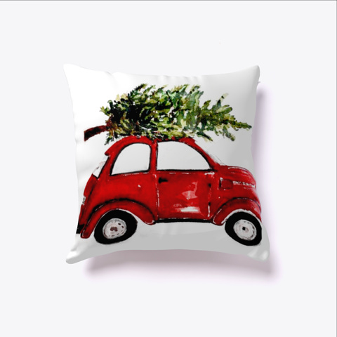 Christmas Pillow White T-Shirt Front