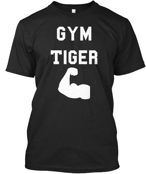 Gym Tiger Black T-Shirt Front