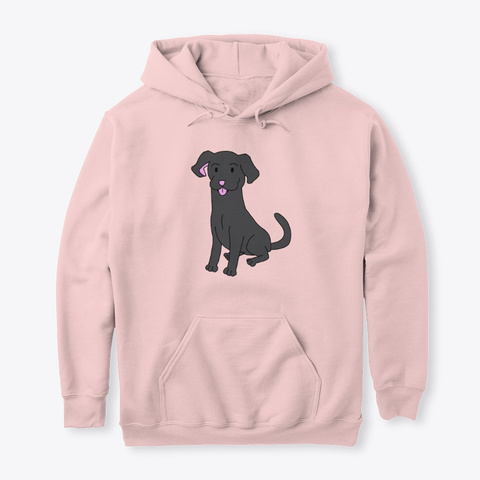 Whimsical Labrador Light Pink Sweatshirt Front