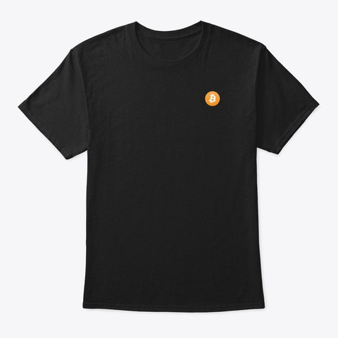 Bitcoin Logo Shirt Black T-Shirt Front