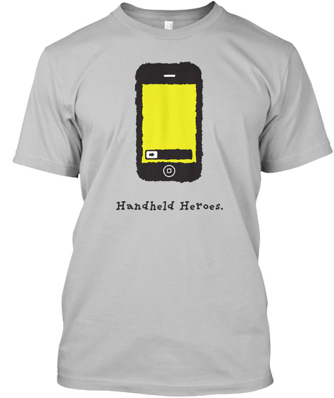 I Phone   Handheld Heroes (Uk/Eu) Sport Grey T-Shirt Front