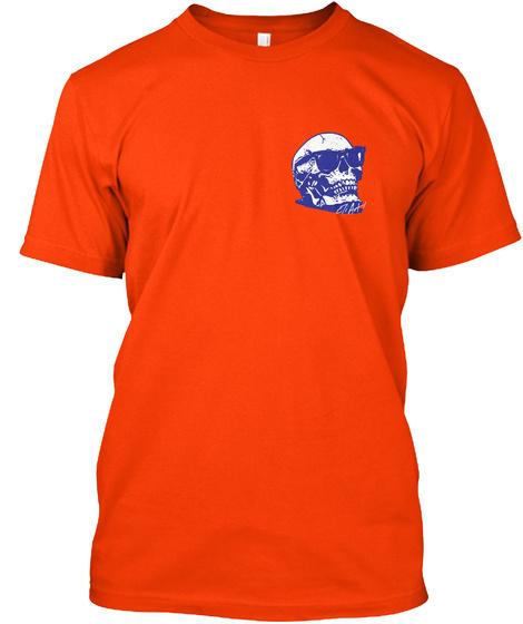Back To The Basics   Mens Tee Orange T-Shirt Front