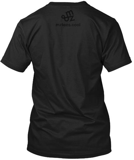 Mz Tees Logo, Black On Black Black T-Shirt Back