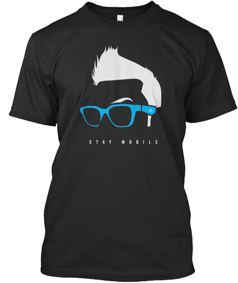 Stay Mobile Black T-Shirt Front