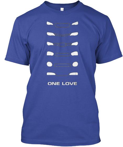 One Love  Deep Royal T-Shirt Front
