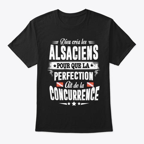 Alsacien Pour Que La Black T-Shirt Front