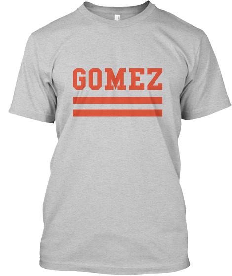 Gomez Family Flag Style Light Steel T-Shirt Front