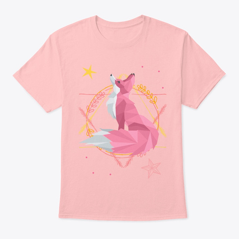 Pinky Renard Pale Pink T-Shirt Front