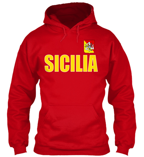 Sicilia Red T-Shirt Front