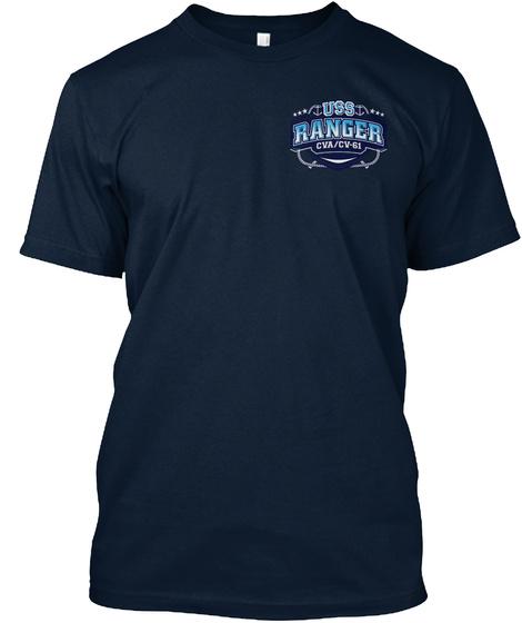Uss Ranger Cva/Cv 61 New Navy T-Shirt Front
