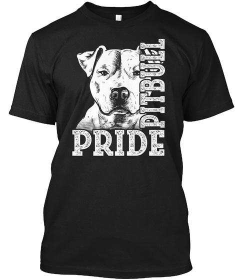 Pride Pitbull Black T-Shirt Front