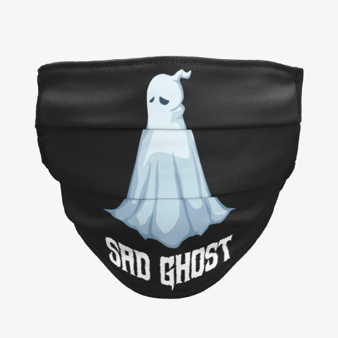 Sad Ghost Black T-Shirt Front