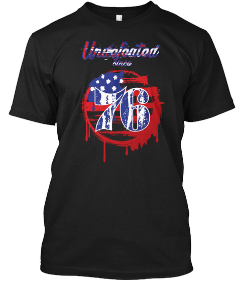 Undefeated 76 Black T-Shirt Front