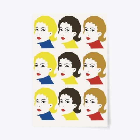 Pop Art Girls Standard T-Shirt Front
