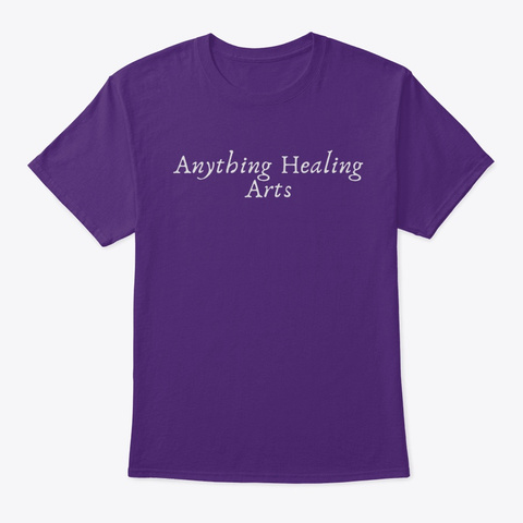 Anything Healing Arts Purple T-Shirt Front