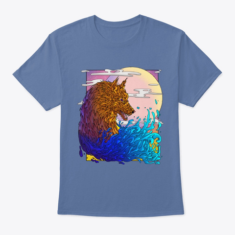 The Great Wolf Denim Blue T-Shirt Front