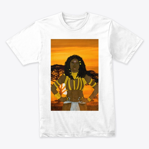 Black Girl Magic  White T-Shirt Front