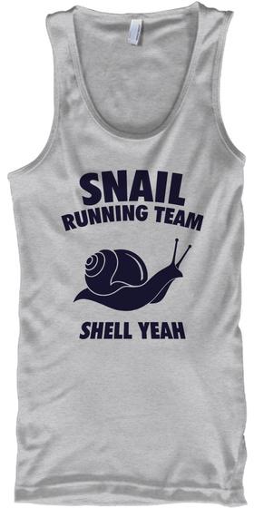 Snail Running Team Shell Yeah Sport Grey T-Shirt Front