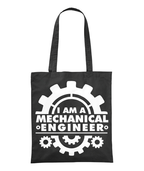 I Am A Mechanical Engineer Black T-Shirt Front