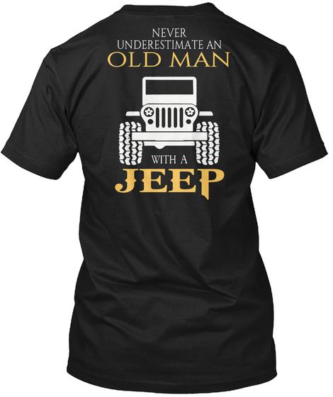 Jeep Man Black T-Shirt Back