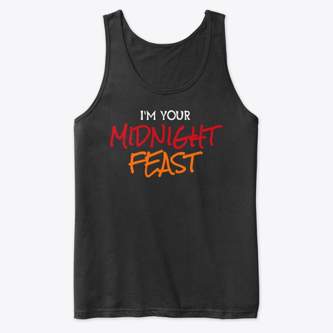 Midnight Feast Black Tank Top Front