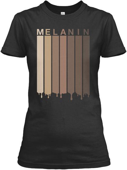 Melanin Shades Black Pride Gift Black T-Shirt Front