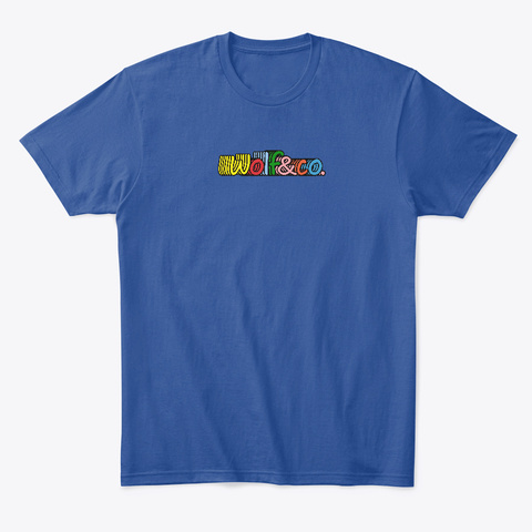 Multi Colored Logo  Deep Royal T-Shirt Front