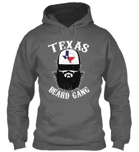 Texas Beard Gang  Dark Heather T-Shirt Front