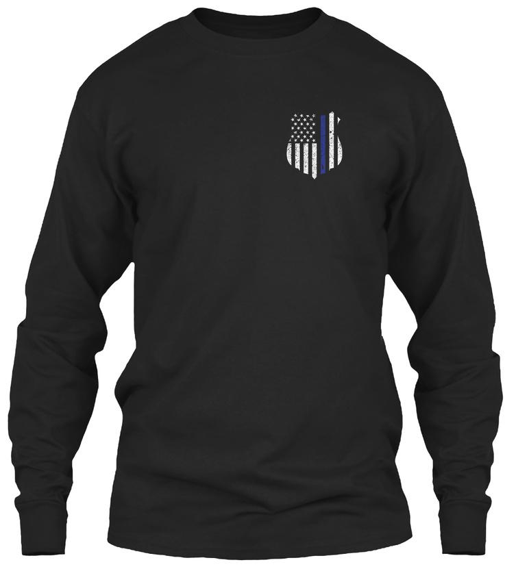 Thin-Blue-Line-Exclusive-Gildan-Long-Sleeve-Tee-T-Shirt thumbnail 6